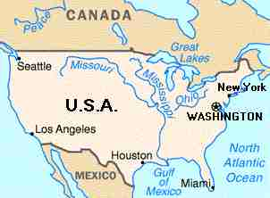 GRAYS WORLD Northern States USA - Map of northern states of usa